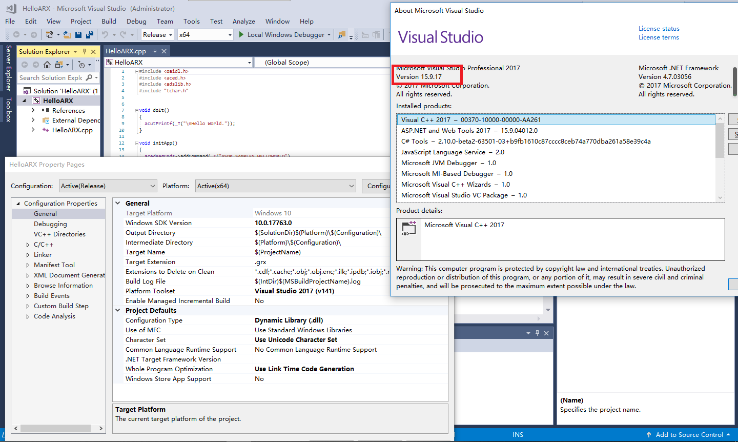 Visual Studio Property
