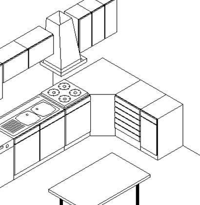 Exemple de cuisine en 3D