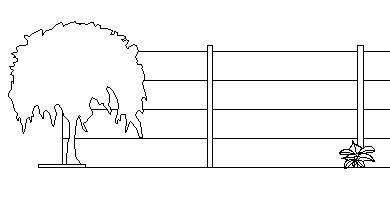 Exemple de palissade en dessin 2D